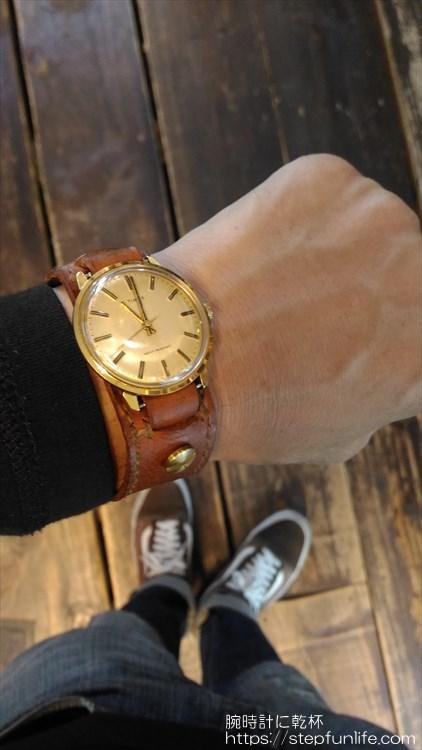タイメックス(timex) 手巻き 自作ベルト2 着用イメージ2