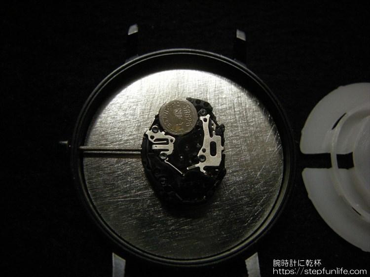 ダイソー 500円時計 シンプルウォッチ ムーブメント3
