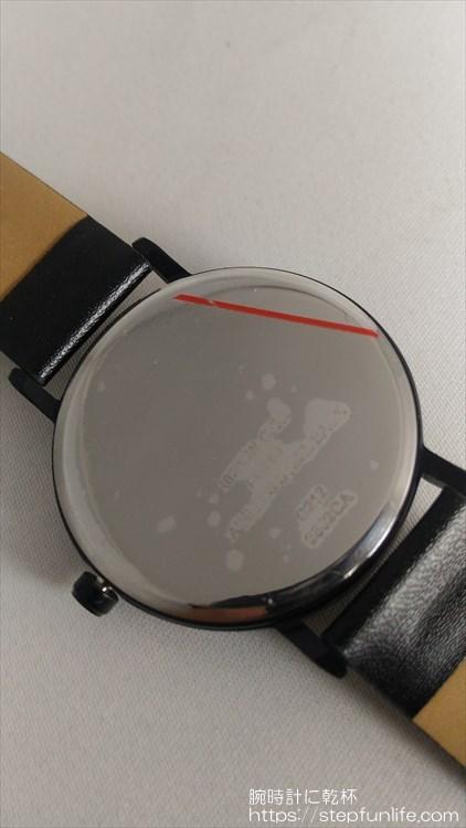 ダイソー 500円時計 シンプルウォッチ 裏蓋保護シート
