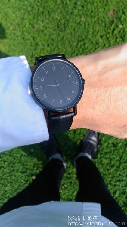 ダイソー 500円時計 シンプルウォッチ 着用イメージ5