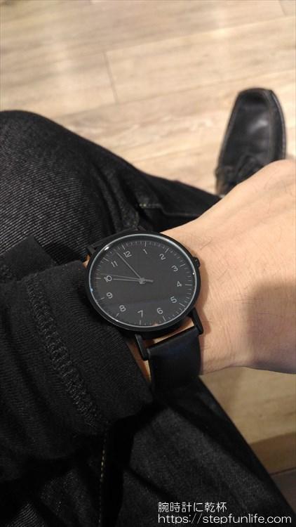 ダイソー 500円時計 シンプルウォッチ 着用イメージ2