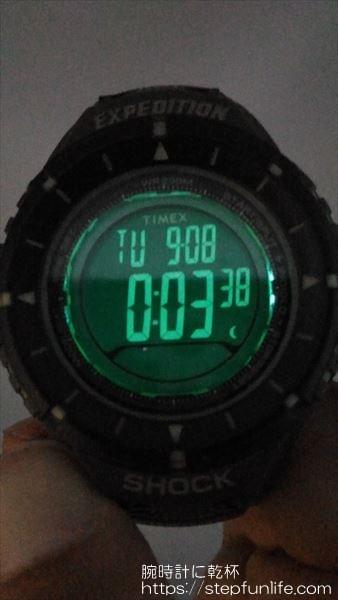 タイメックス エクスペディション T49612 インディグロナイトライト