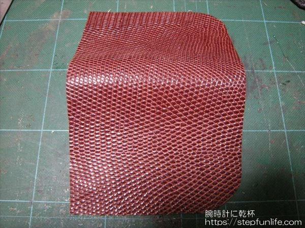 L字ファスナー財布(リザード革)  外装カット完了
