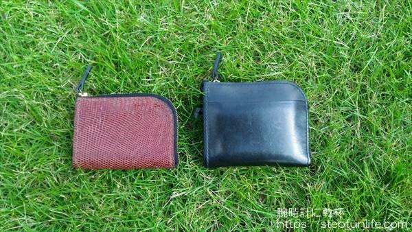 L字ファスナー財布(リザード革)サイズ比較