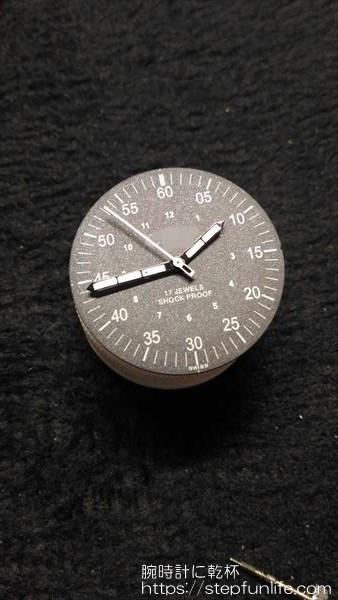 腕時計のムーブメント・文字盤交換 針取り付け完了