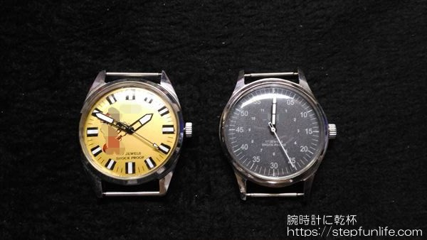 腕時計のムーブメント・文字盤交換1