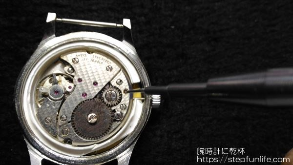 腕時計のムーブメント・文字盤交換3