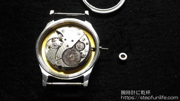 腕時計のムーブメント・文字盤交換4