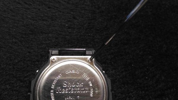 カシオ Gショック DW-5900 電池交換2