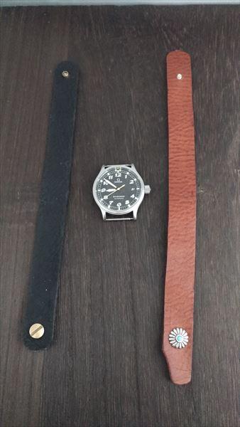 超簡単 腕時計ベルトの作り方 完成 表