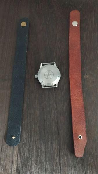 超簡単 腕時計ベルトの作り方 完成 裏