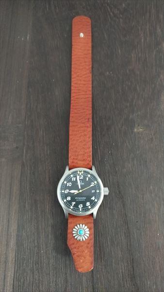 超簡単 腕時計ベルトの作り方 完成 装着 表