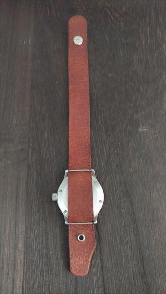 超簡単 腕時計ベルトの作り方 完成  装着 裏