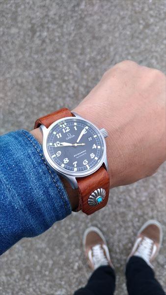 超簡単 腕時計ベルトの作り方 着用イメージ2
