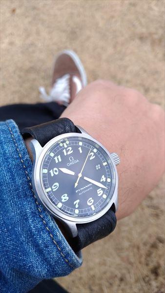 超簡単 腕時計ベルトの作り方 着用イメージ ブラック