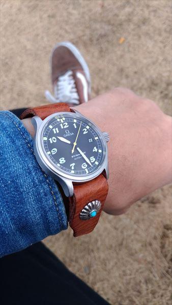 超簡単 腕時計ベルトの作り方 着用イメージ