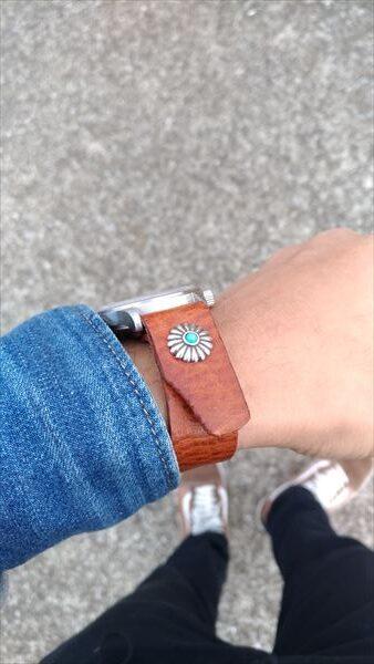 超簡単 腕時計ベルトの作り方 着用イメージ サイド