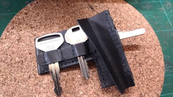 L字ファスナー財布を自作。鍵収納