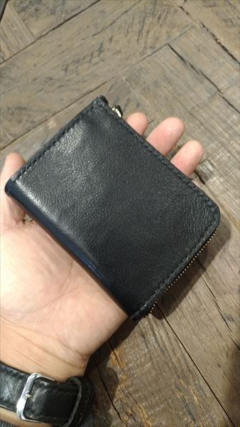 L字ファスナー財布を自作。完成 表面