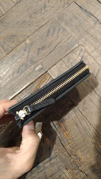 L字ファスナー財布を自作。完成 上から