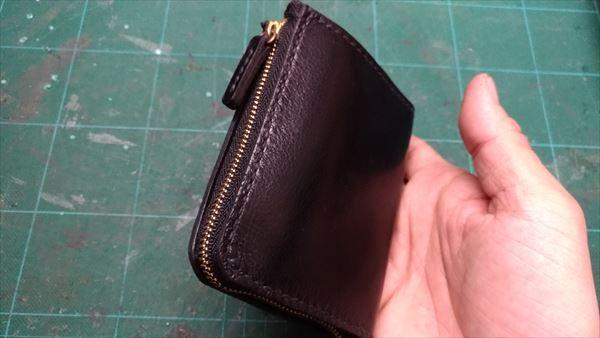 L字ファスナー財布を自作。収納例5
