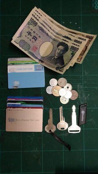 L字ファスナー財布を自作。収納例
