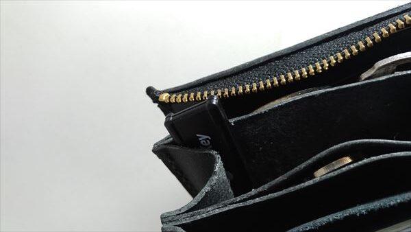 L字ファスナー財布を自作。エネキー収納