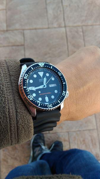 セイコー skx007 ブラックボーイ 着用イメージ6
