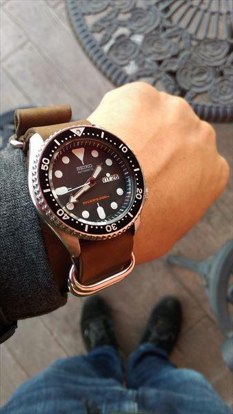 セイコー skx007 ブラックボーイ 着用イメージ8