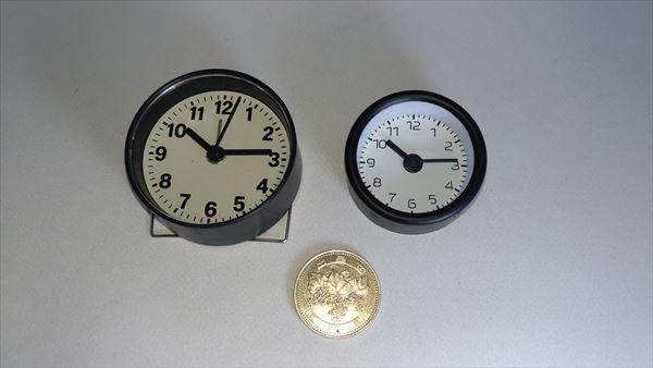 ダイソー ミニ クロック (daiso mini clock) サイズ比較