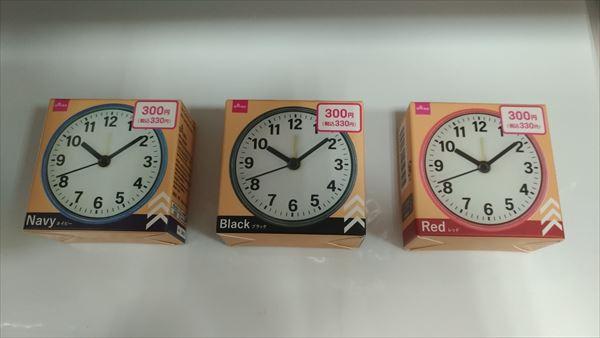 ダイソー ミニ クロック (daiso mini clock) カラーラインナップ