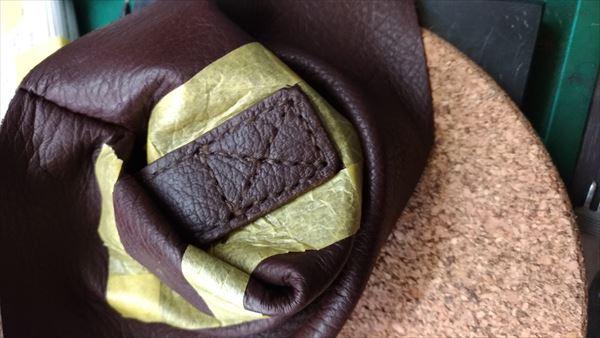 薄い財布を自作(レザークラフト・ハンドメイド) フラップ縫い付け