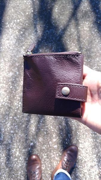 薄い財布を自作(レザークラフト・ハンドメイド) 完成イメージ2