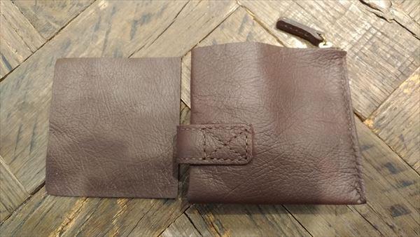 薄い財布を自作(レザークラフト・ハンドメイド) 完成 フリーポケット仕切り