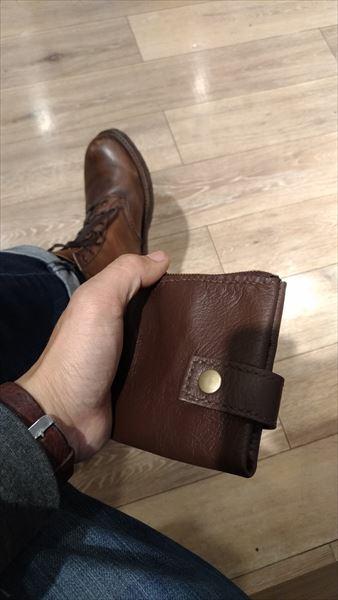 薄い財布を自作(レザークラフト・ハンドメイド) イメージ