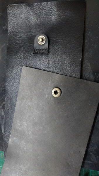 小さい財布を自作。バネホック