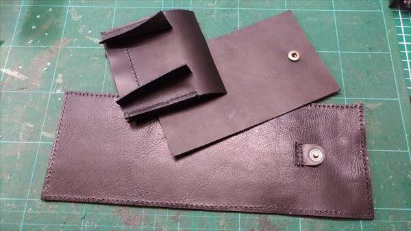 小さい財布を自作。3つのパーツ