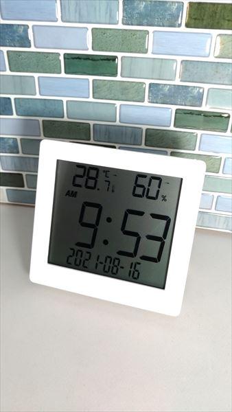 ダイソー 500円デジタル置時計(温湿度計付き) 設置イメージ