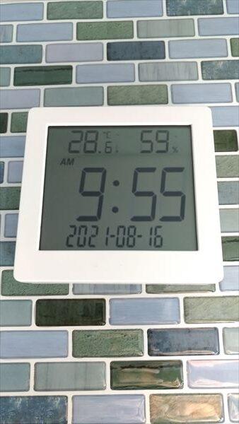 ダイソー 500円デジタル置時計(温湿度計付き) フェイス2