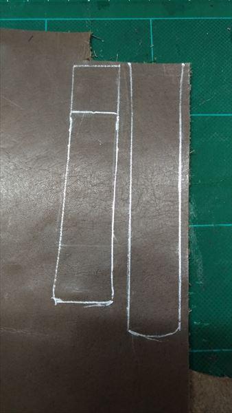 スカーゲン(SKAGEN) SKW6024 の自作ベルト 型 銀ペン
