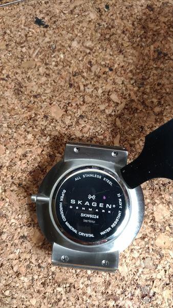 スカーゲン(SKAGEN) SKW6024 の自作ベルト 電池交換